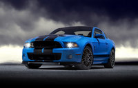 2013 Ford Shelby GT500, Front-quarter view. Copyright Ford Motor Company., exterior, manufacturer