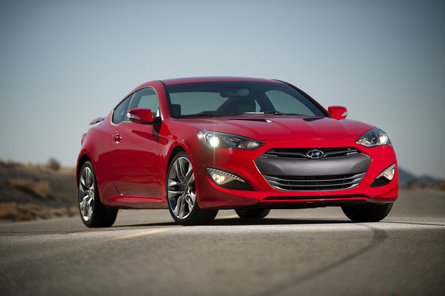2013 Hyundai Genesis Coupe, Front-quarter view. Copyright Hyundai Motor Company., exterior, manufacturer, gallery_worthy
