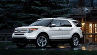 2013 Ford Explorer, exterior front left quarter view, manufacturer, exterior