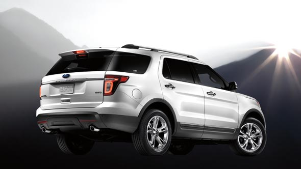 2013 Ford Explorer, exterior rear right quarter view, exterior, manufacturer