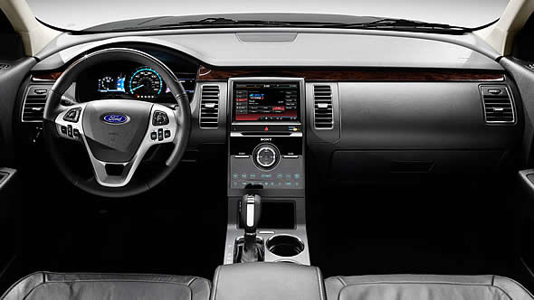 2013 Ford Flex, interior front full view, interior, manufacturer