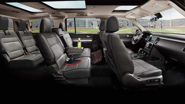 2013 Ford Flex, interior full view, interior, manufacturer