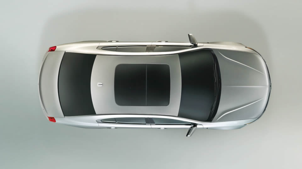 2013 Lincoln MKS, exterior top full view, exterior, manufacturer