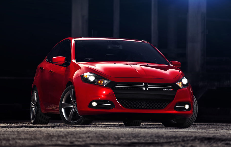 2013 Dodge Dart, Front-quarter view. Copyright Chrysler Group., manufacturer, exterior