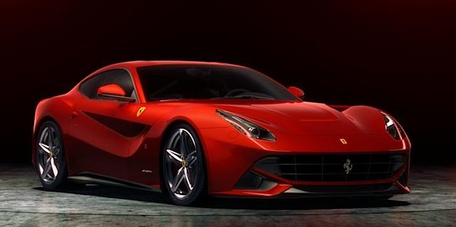 Front-quarter view. Copyright Ferrari