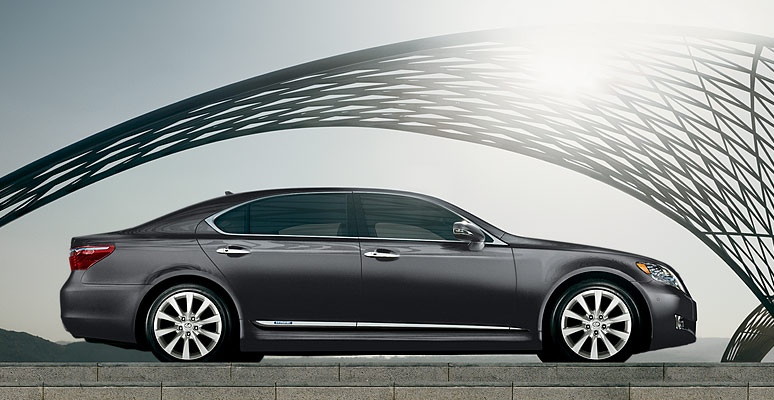 2012 Lexus LS 600h L, exterior right side full view, manufacturer, exterior
