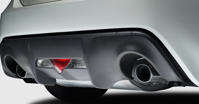 2013 Scion FR-S, Close-up of exhaust. , exterior, manufacturer