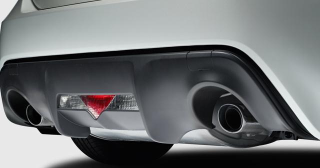 2013 Scion FR-S, Close-up of exhaust. , exterior, manufacturer