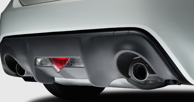 2013 Scion FR-S, Close-up of exhaust. , manufacturer, exterior