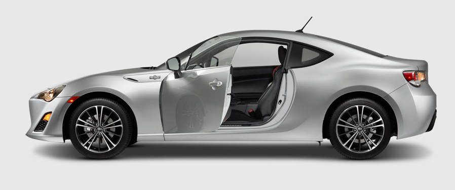 2013 Scion FR-S, Side door with side door open. , manufacturer, exterior