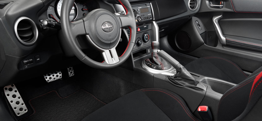 2013 Scion FR-S, Close-up of steering wheel. , manufacturer, interior