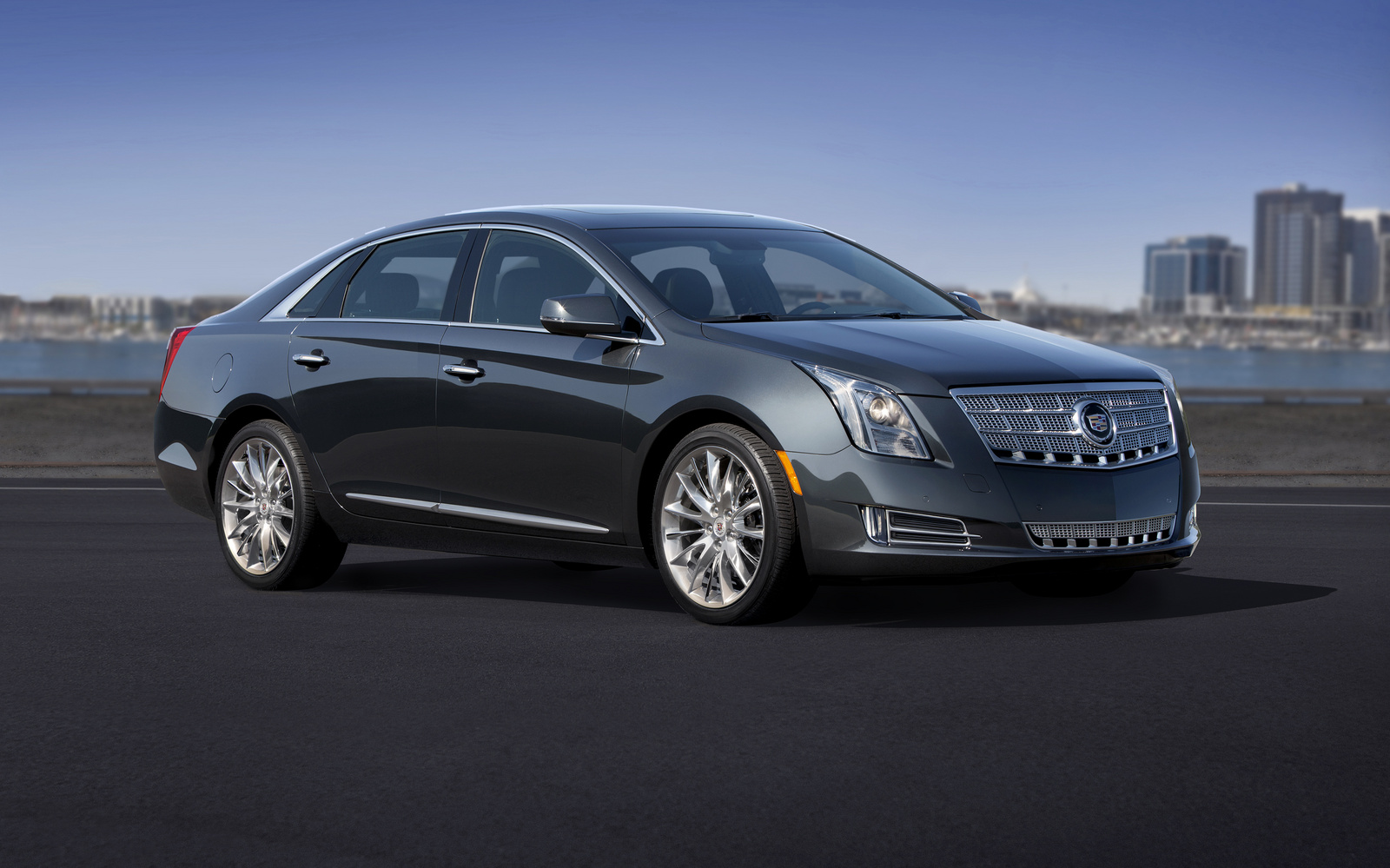2013 Cadillac XTS, Front-quarter view. Copyright General Motors, manufacturer, exterior