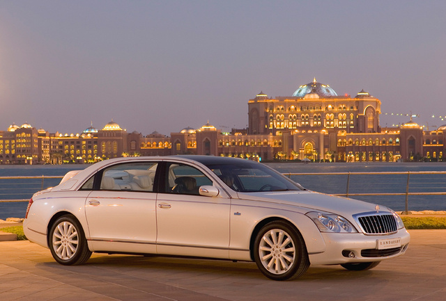 2012 Maybach 62 Landaulet, exterior right front quarter view, exterior, manufacturer