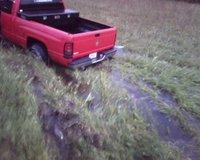 1998 Dodge Ram 1500 4 Dr Laramie SLT Extended Cab SB, Stuck, Bald tires and rain in florida do not mix, exterior