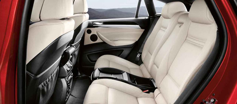 2013 BMW X6, interior rear view, manufacturer, interior