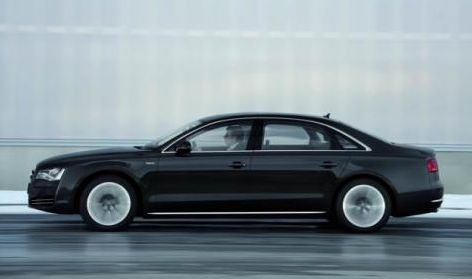 2013 Audi A8, Side view, manufacturer, exterior