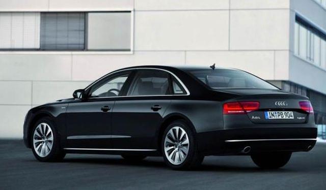 2013 Audi A8, rear quarter, exterior, manufacturer