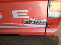 1989 Dodge Ram 50 Pickup, Big Horn Symbol i added to the tailgate., exterior