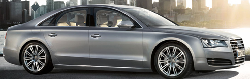 2013 Audi A8, Exterior Full Right Side, exterior