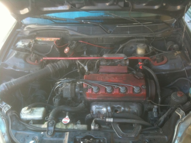 1996 Honda Civic DX, D15B Vtec engine... , engine