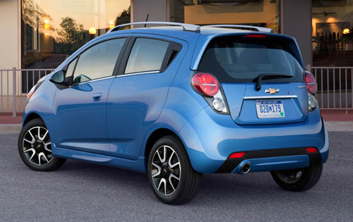 2013 Chevrolet Spark, Exterior Left Rear Quarter View - Copyright General Motors Corporation, exterior