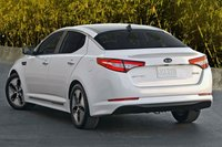 2012 Kia Optima Hybrid LX, Exterior Left Rear Quarter View © Hyundai Motor Company, exterior
