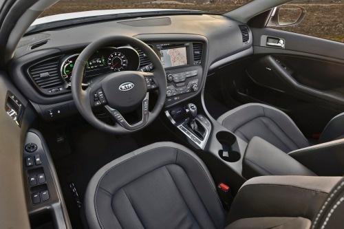 2012 Kia Optima Hybrid EX, Interior Front Side View © Hyundai Motor Company, interior