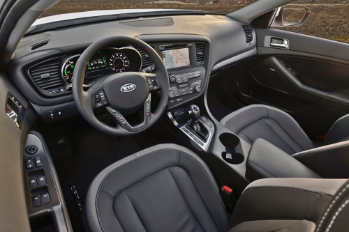 2012 Kia Optima Hybrid LX, Interior Front Side View © Hyundai Motor Company, interior