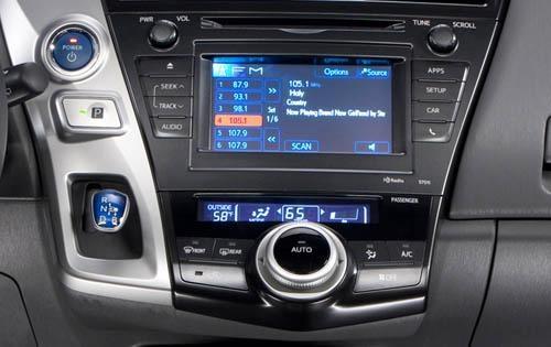 2012 Toyota Prius v, Interior Console Detail © Toyota Motor Sales, U.S.A., Inc., interior