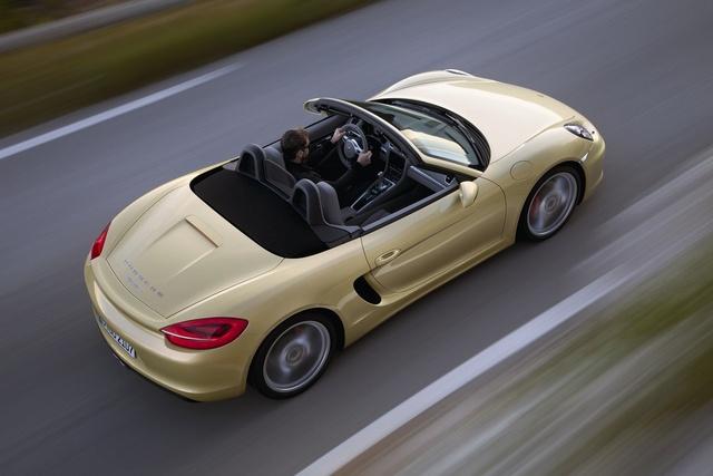 2013 Porsche Boxster, exterior top view, exterior, manufacturer