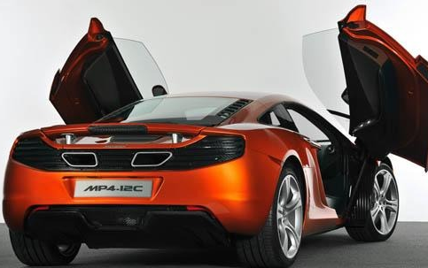 2012 McLaren MP4-12C, Back quarter view. , exterior, manufacturer