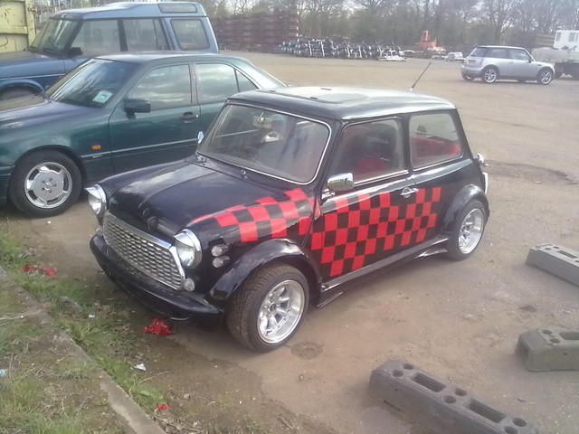 1993 Rover Mini, now finished with this, exterior