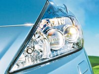 2012 Toyota Prius v, Close-up of head light., exterior, manufacturer