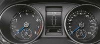 2012 Volkswagen Golf R, Close-up of gage instruments., manufacturer, interior