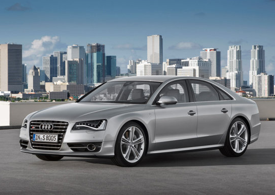 2013 Audi S8, Front quarter view copyright AOL Autos. , manufacturer, exterior
