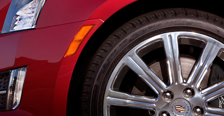 2013 Cadillac ATS, Close-up of front tire. , manufacturer, exterior