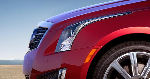 2013 Cadillac ATS, Close-up of hood. , exterior, manufacturer