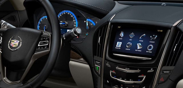 2013 Cadillac ATS, Steering wheel and stereo., interior, manufacturer