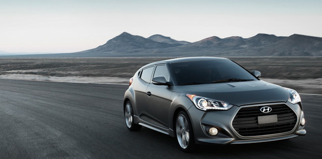 2013 Hyundai Veloster Turbo, Front quarter view., exterior, manufacturer