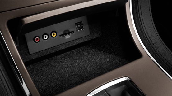 2013 Lincoln MKX, Close-up of center console., interior, manufacturer