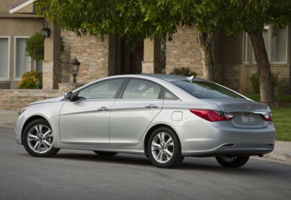 2013 Hyundai Sonata, Back quarter view copyright AOL Autos., manufacturer, exterior