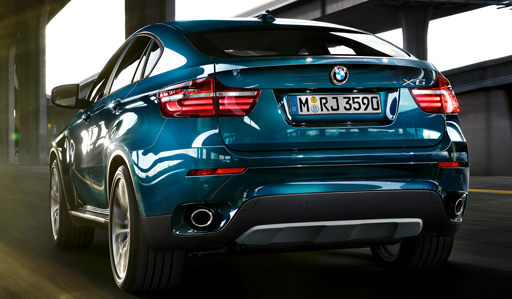 2013 BMW X6, Back View. , manufacturer, exterior