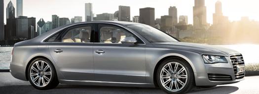 2013 Audi A8, Side View., exterior, manufacturer