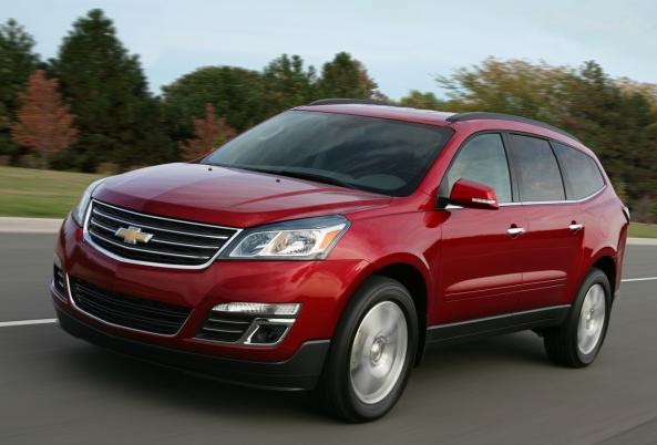 2013 Chevrolet Traverse, Front quarter view., exterior, manufacturer