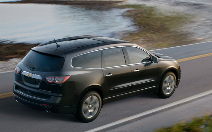 2013 Chevrolet Traverse, Back quarter view., manufacturer, exterior