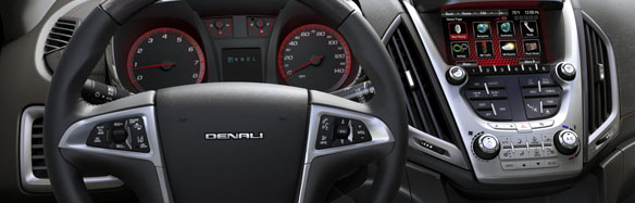 2013 GMC Terrain, Steering wheel., interior, manufacturer