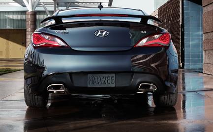 2013 Hyundai Genesis Coupe, Back View., exterior, manufacturer