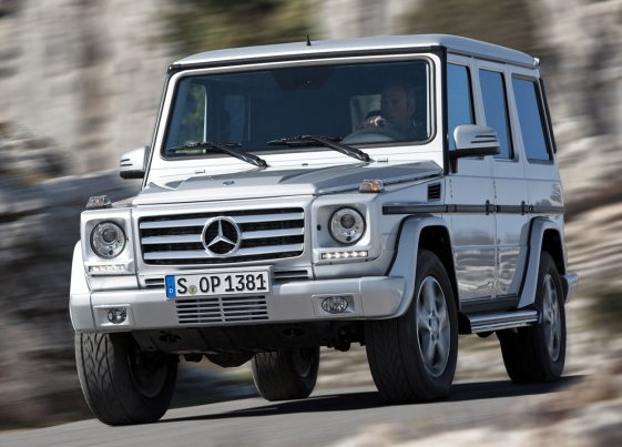 2013 Mercedes-Benz G-Class, Front quarter view., exterior, manufacturer