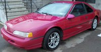 1993 Ford Thunderbird SC, what the car currently looks like now, exterior