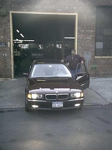 My car at the garage